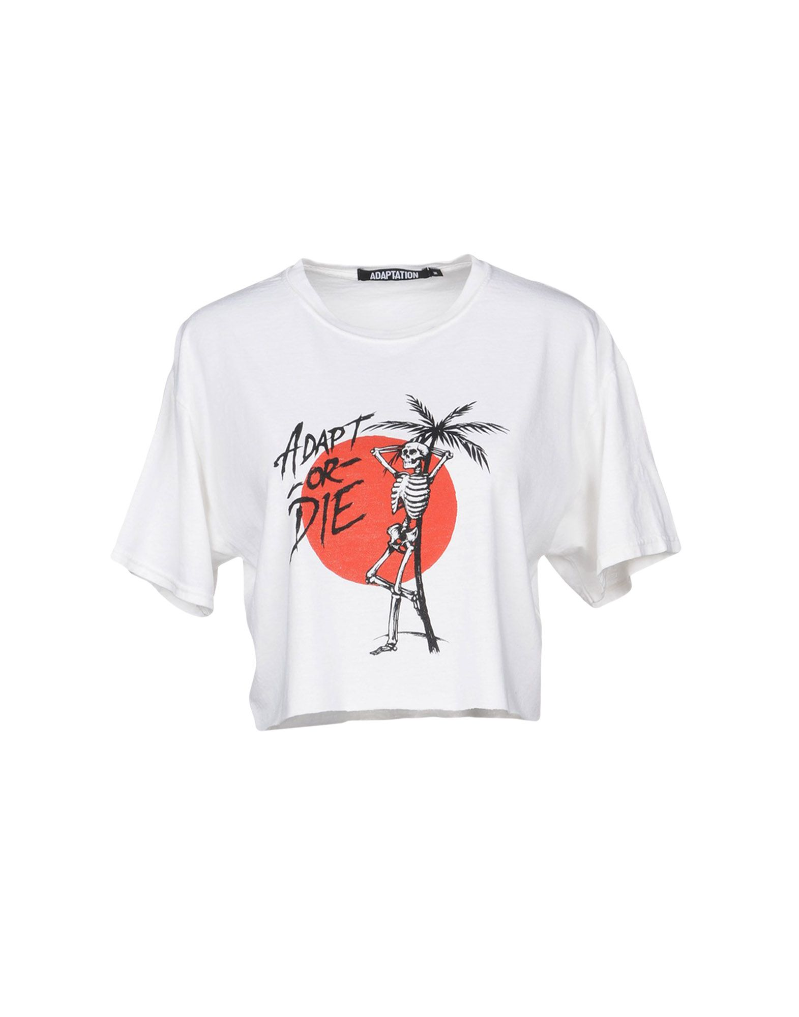 Adaptation Cropped T-Shirt In White