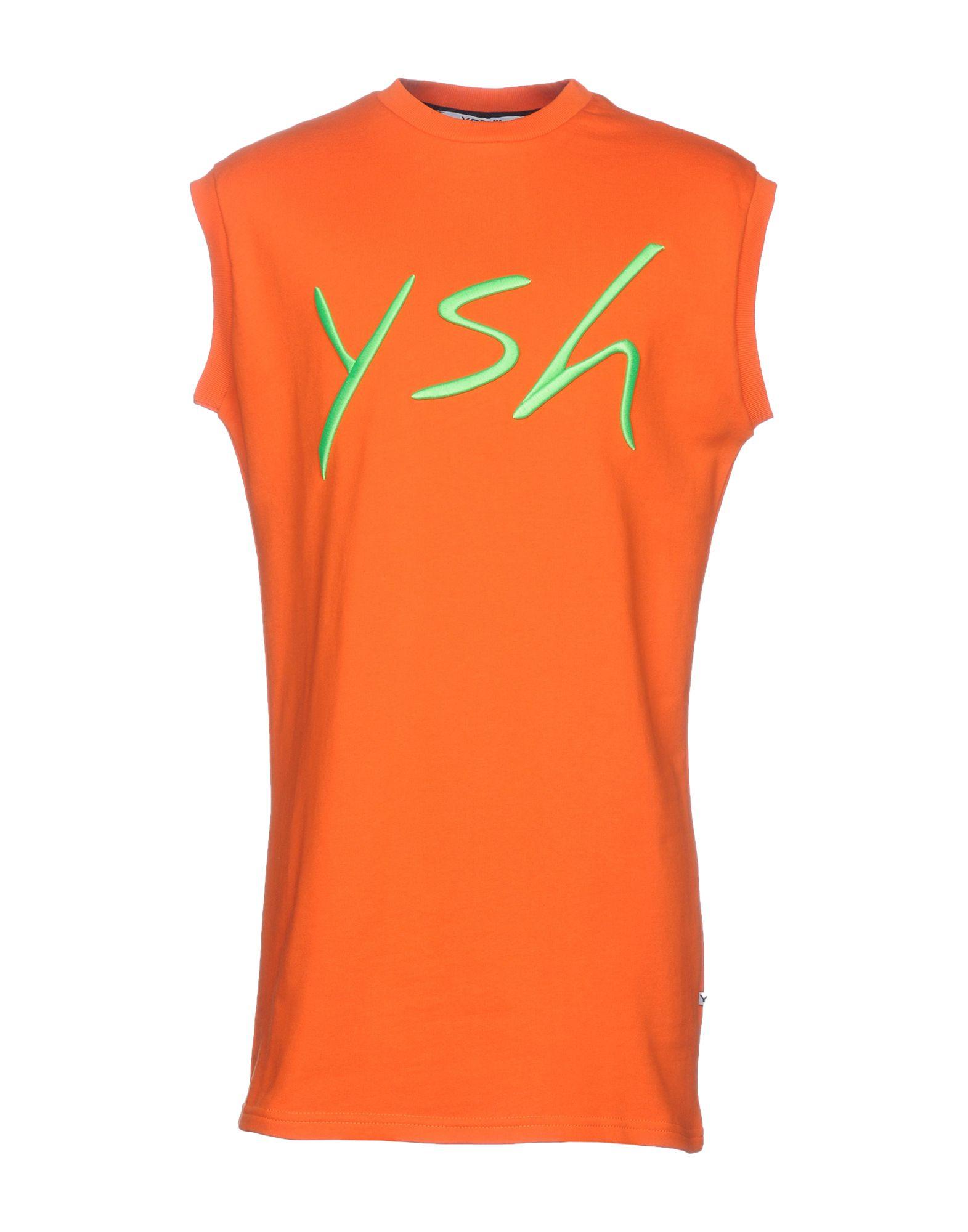 《送料無料》YOSHII メンズ スウェットシャツ オレンジ S コットン 100%