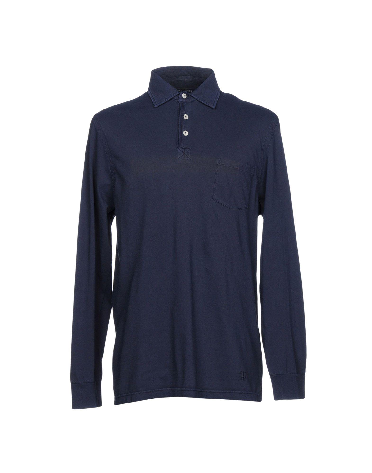 BREUER Polo Shirt in Dark Blue