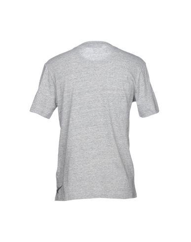 Фото 2 - Женскую футболку HAUS GOLDEN GOOSE светло-серого цвета