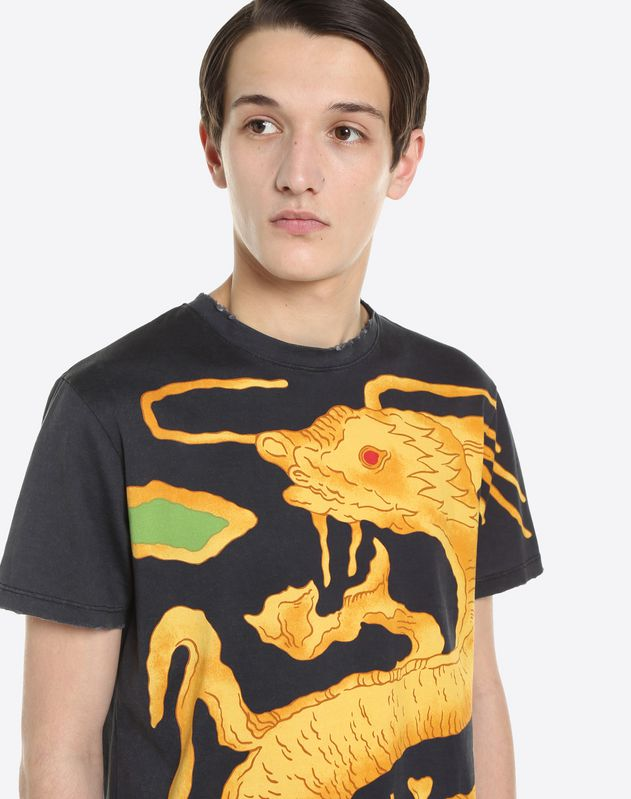T-SHIRT WITH DRAGON RE-EDITION PRINT