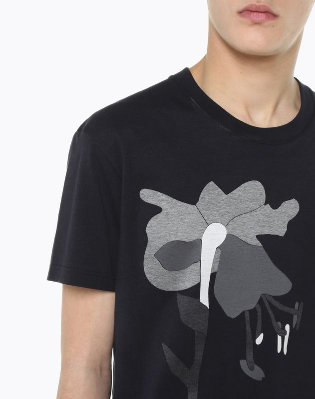 T-SHIRT WITH HEAT-SEALED FLOWER