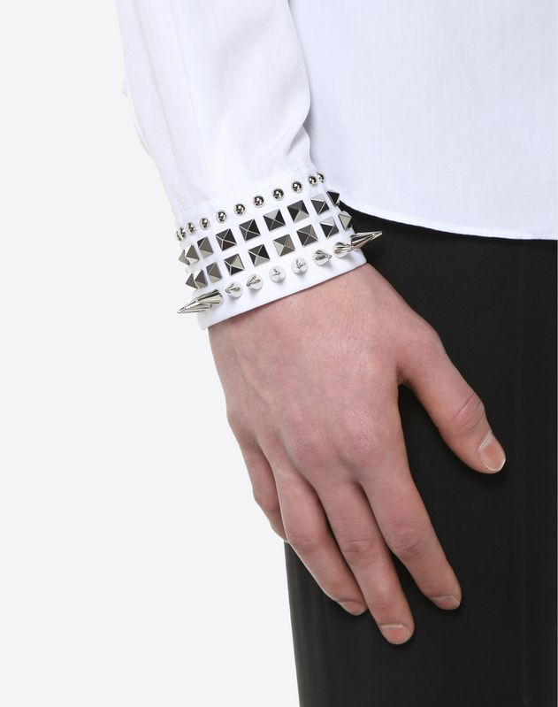 SHIRT WITH PUNK STUDS ON THE CUFFS