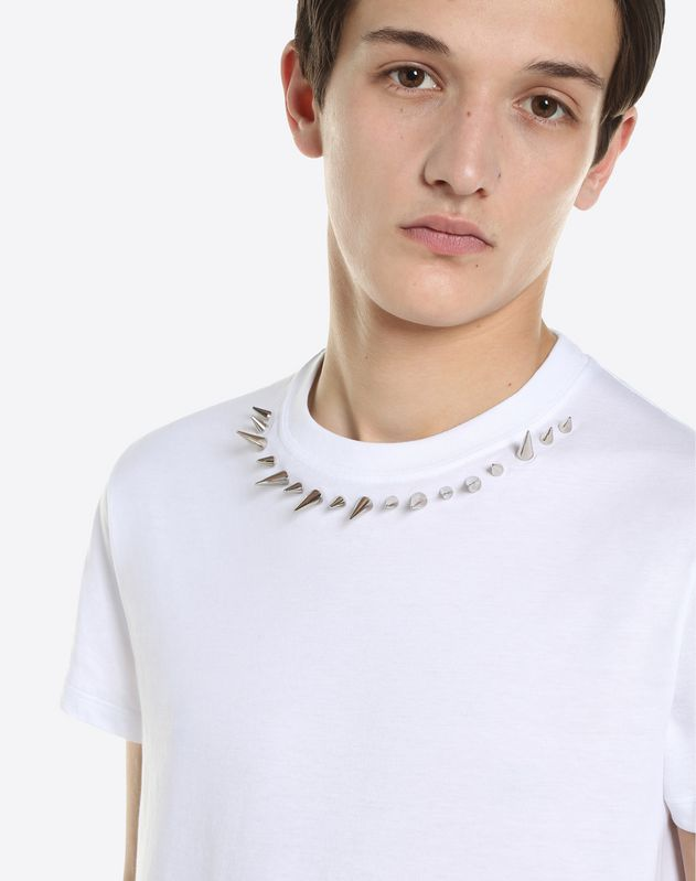 朋克风铆钉圆领 T 恤