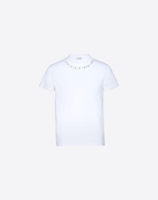 クルーネックTシャツ パンクスタッズ