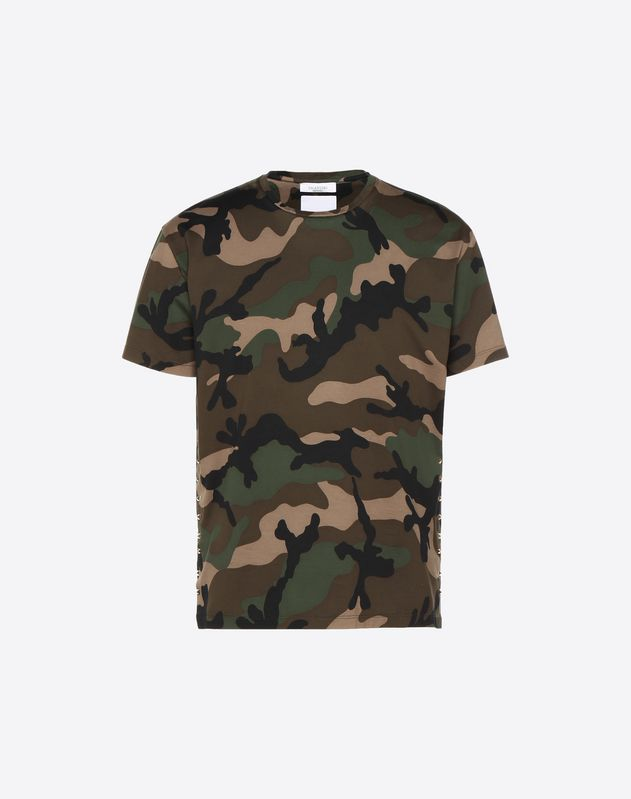 Rockstud Valentino Man For Online T-shirt Boutique Camouflage Untitled