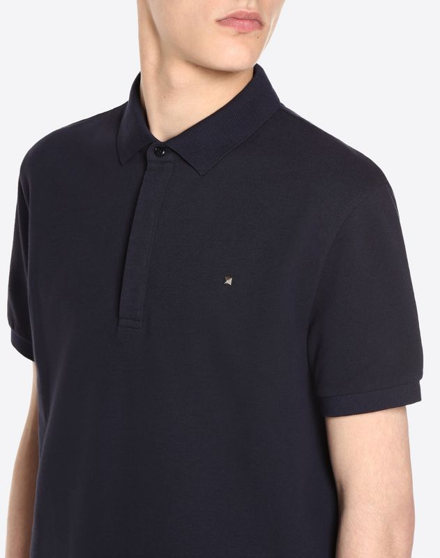Polo shirt with iconic stud detail