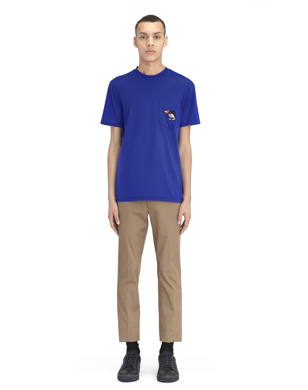 "BLUE T-SHIRT WITH ""BIRDS"" APPLIQUÉ - Lanvin"