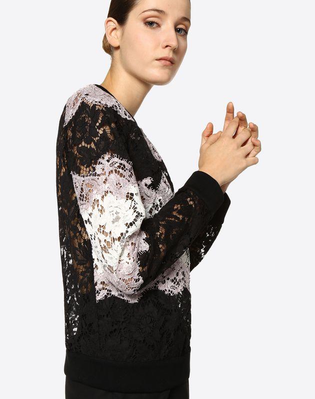 Intarsia Lace Sweatshirt