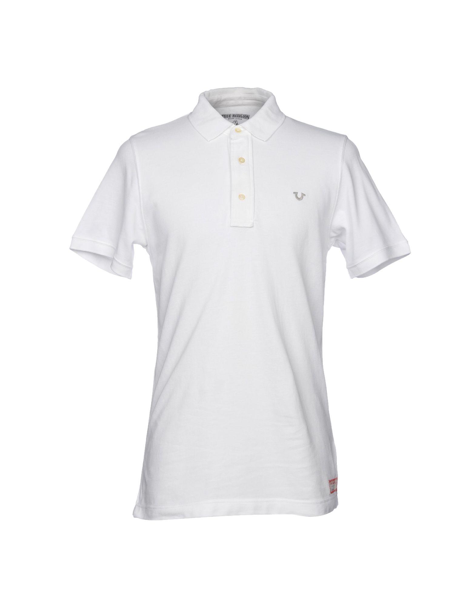 《送料無料》TRUE RELIGION メンズ ポロシャツ ホワイト XXL コットン 100%