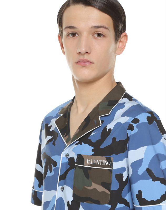 Camouflage bowling shirt