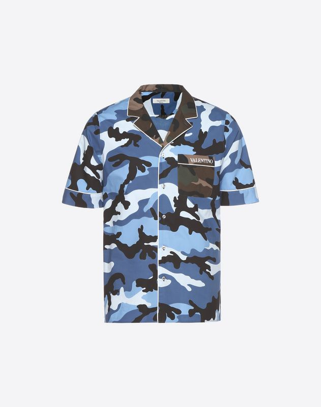Bowlinghemd mit Camouflage-Muster