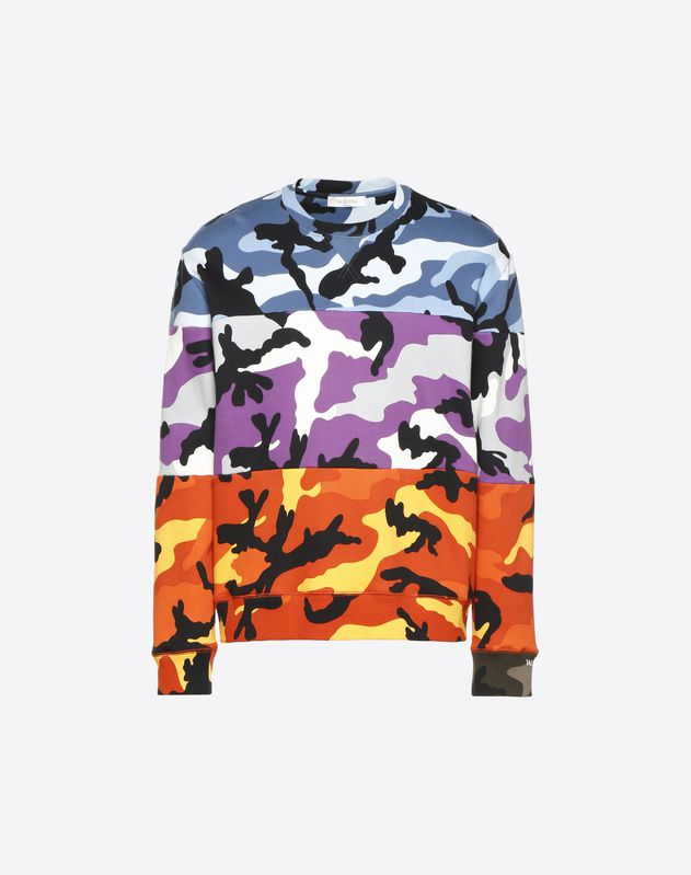 Sweat-shirt à col rond Camoushuffle