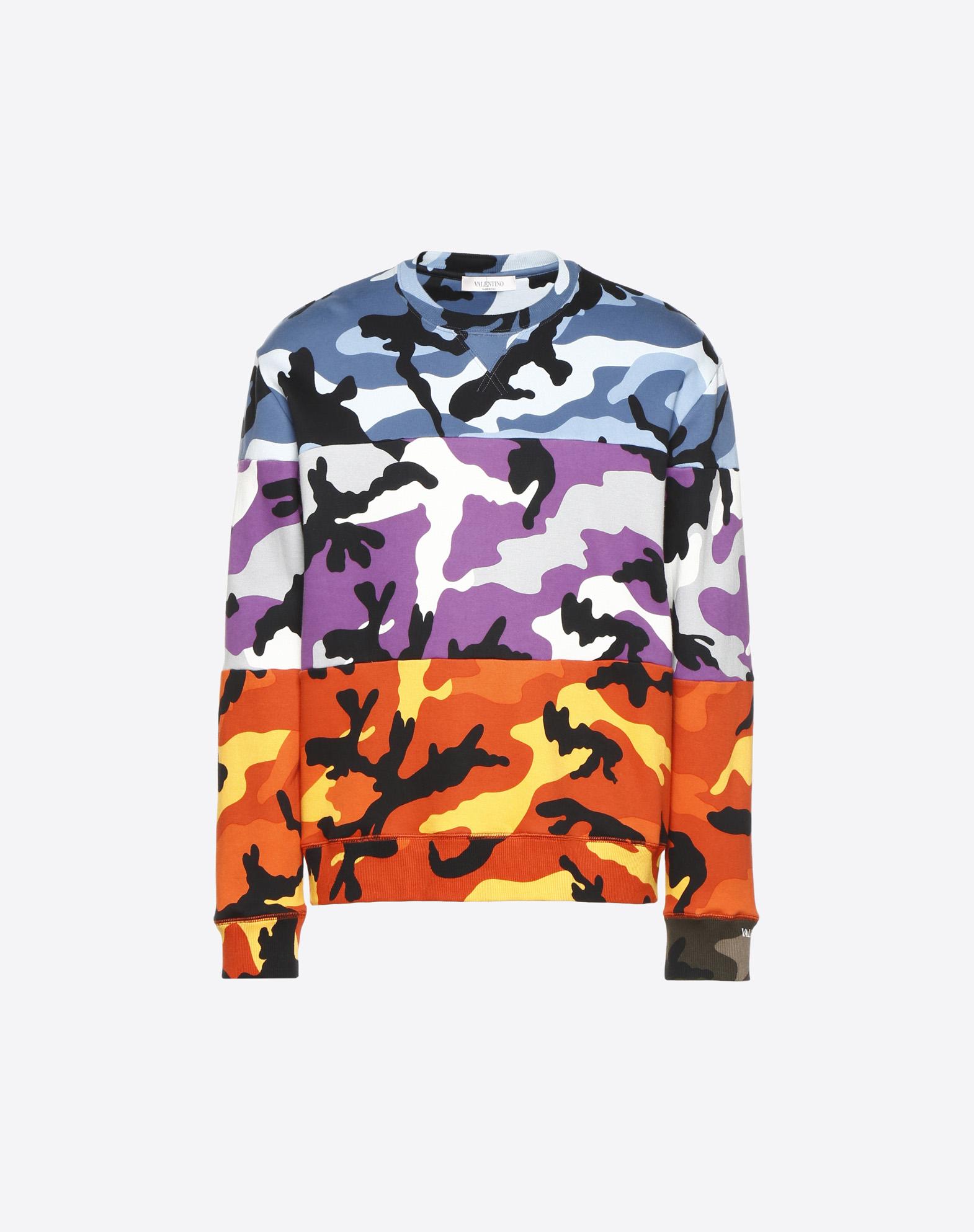 Camoushuffle crew-neck sweatshirt