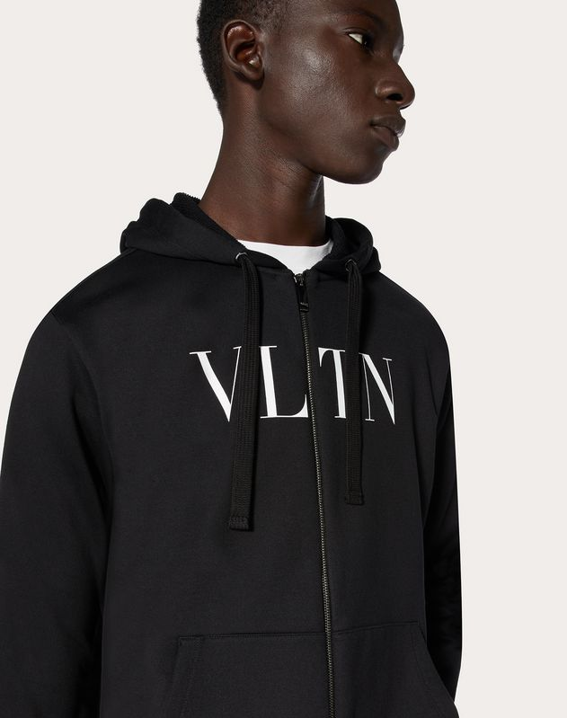 VLTN SWEATSHIRT WITH HOOD AND ZIPPER