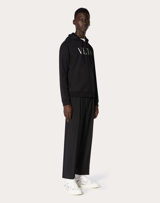 VLTN HOODED SWEATSHIRT WITH ZIP