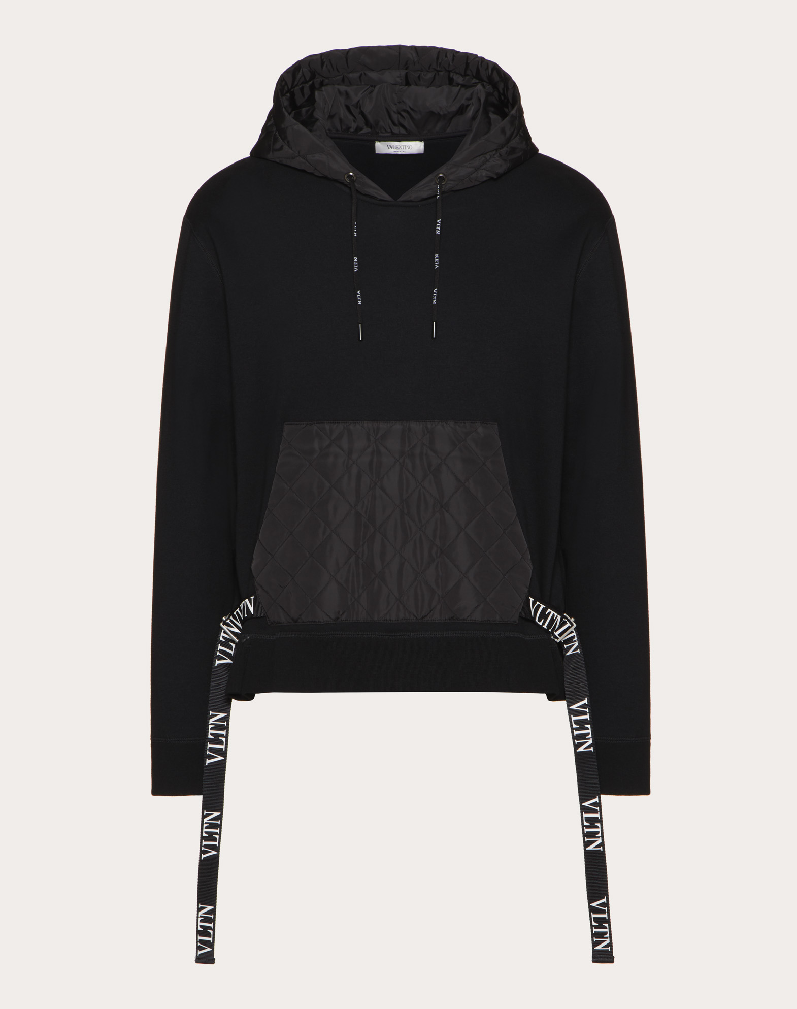 Sweatshirt with VLTN nylon hood