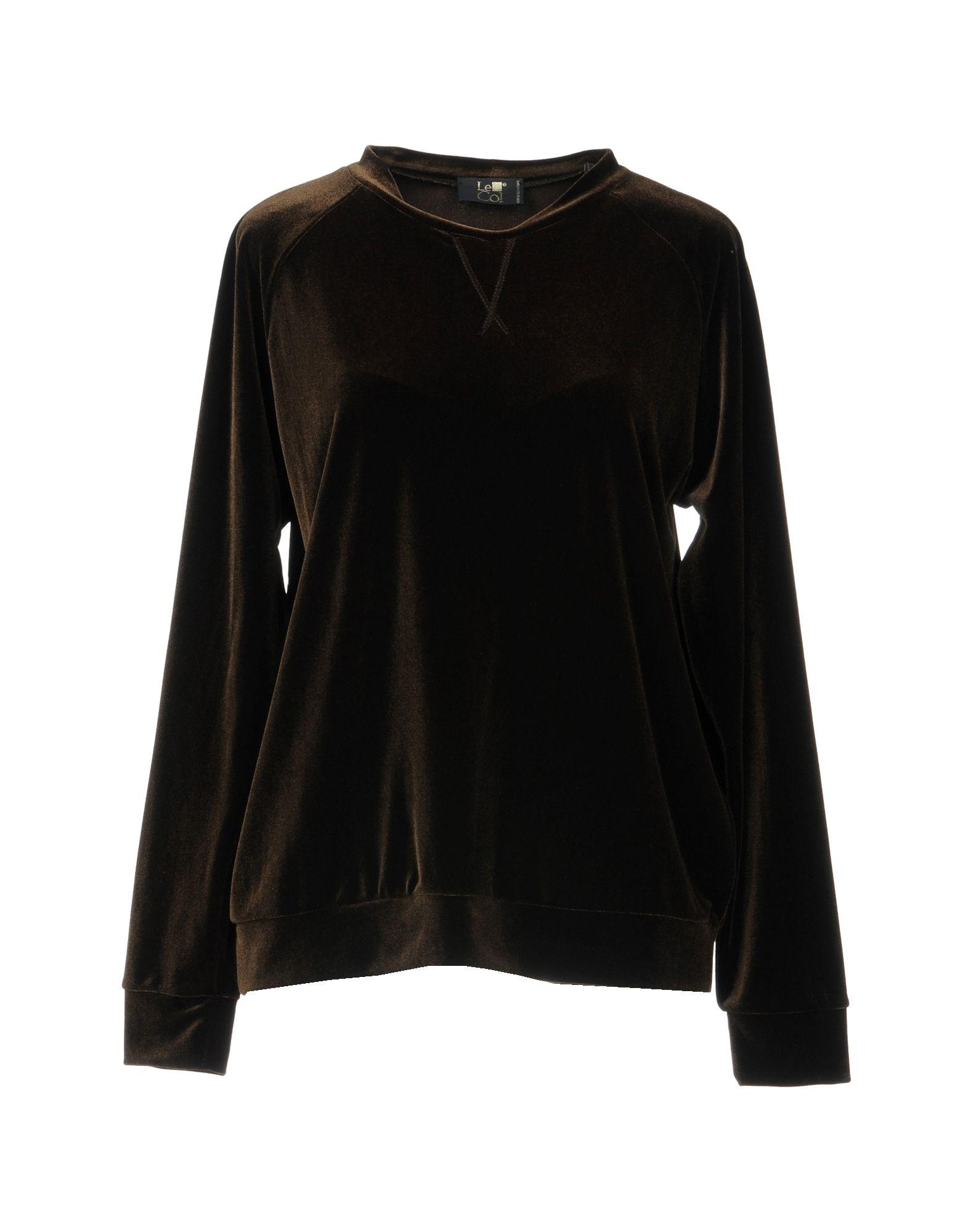 LE COL Sweatshirt in Dark Brown