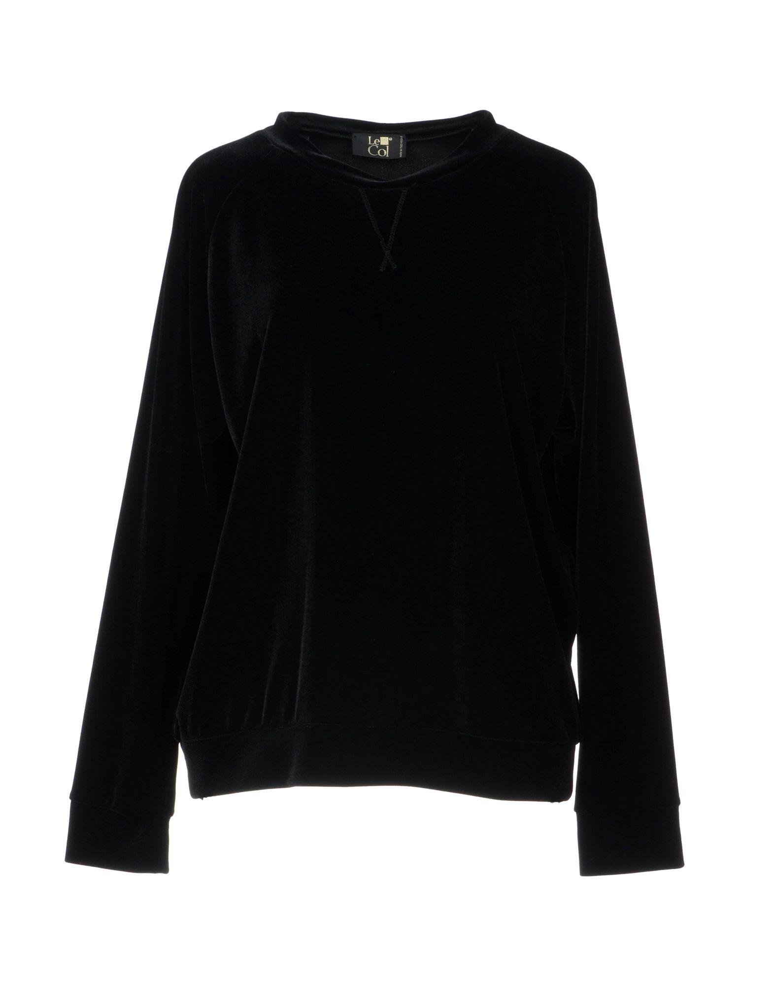 LE COL Sweatshirt in Black