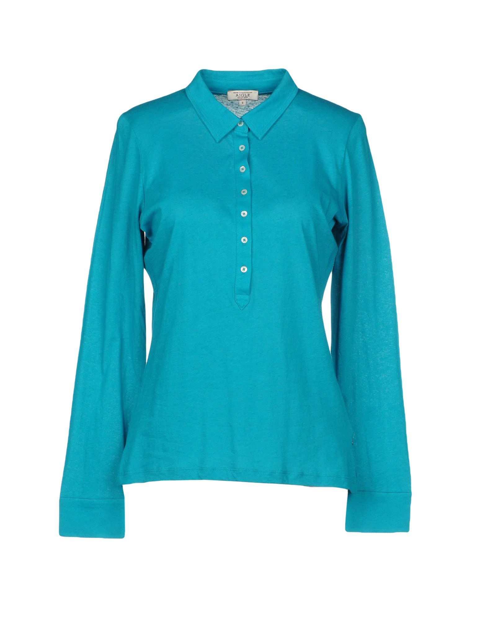 AIGLE Polo Shirt in Turquoise