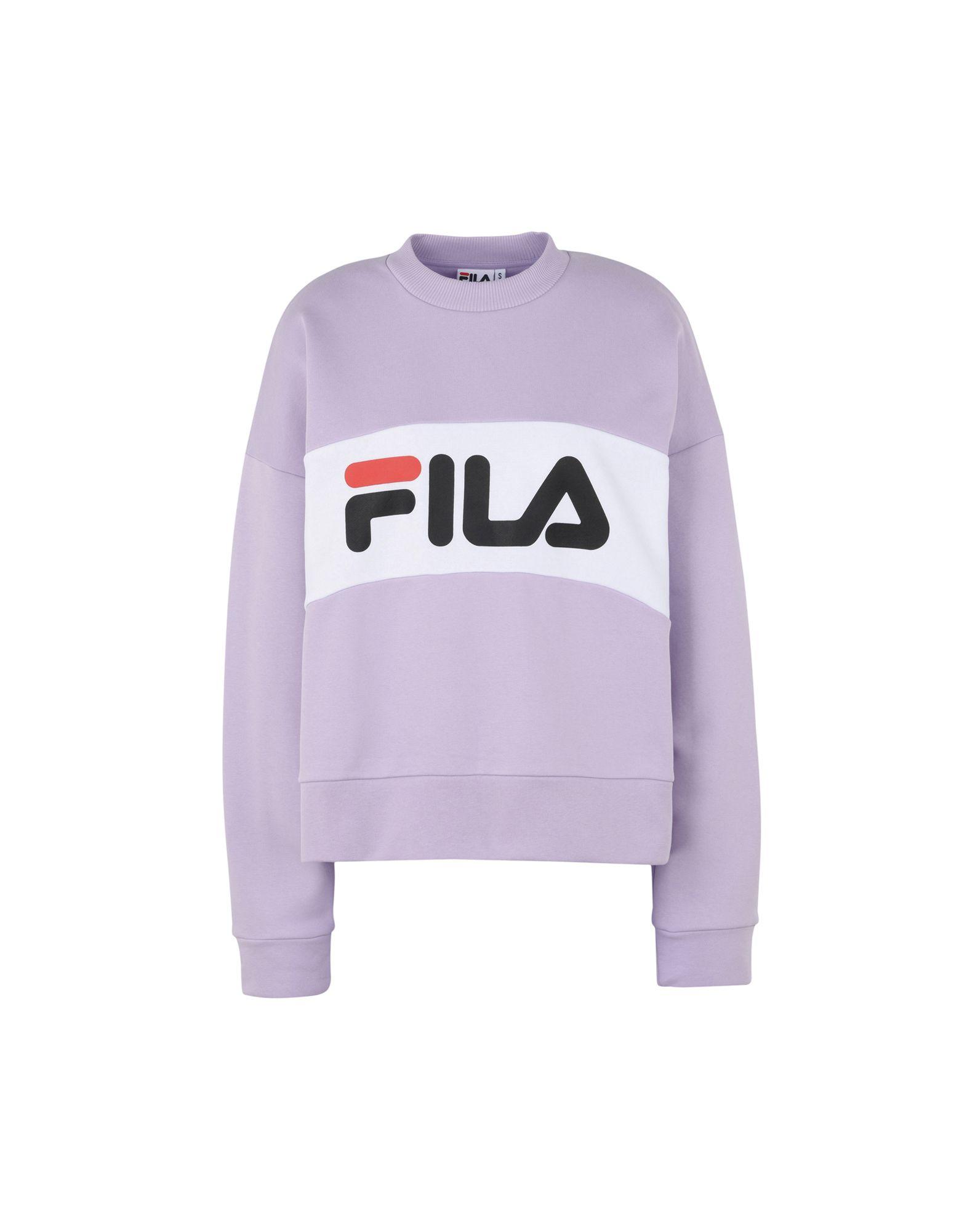 《セール開催中》FILA HERITAGE レディース スウェットシャツ ライラック M コットン 87% / ポリエステル 13% LEAH CREW SWEAT