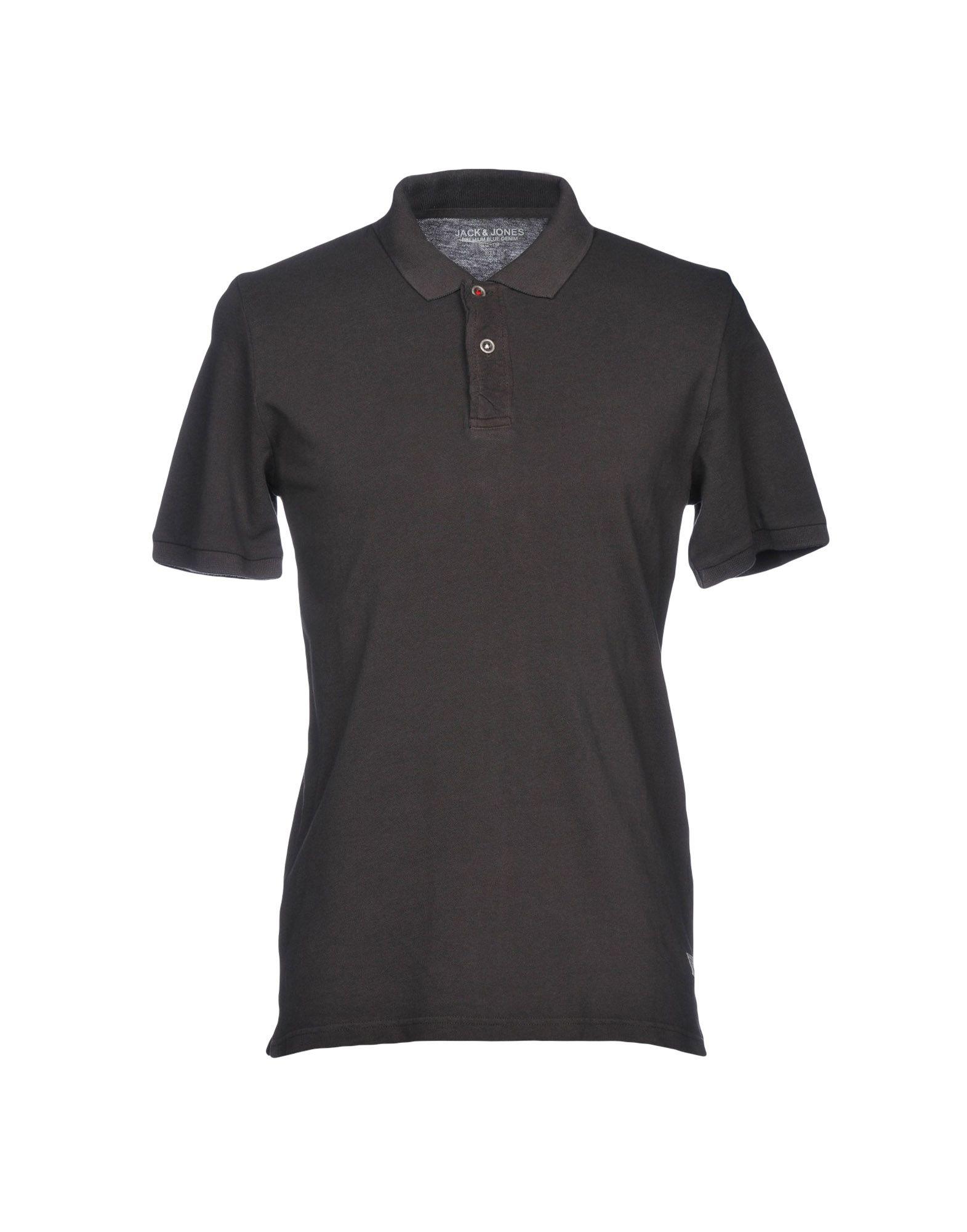 《送料無料》JACK & JONES PREMIUM メンズ ポロシャツ ダークブラウン S 100% コットン