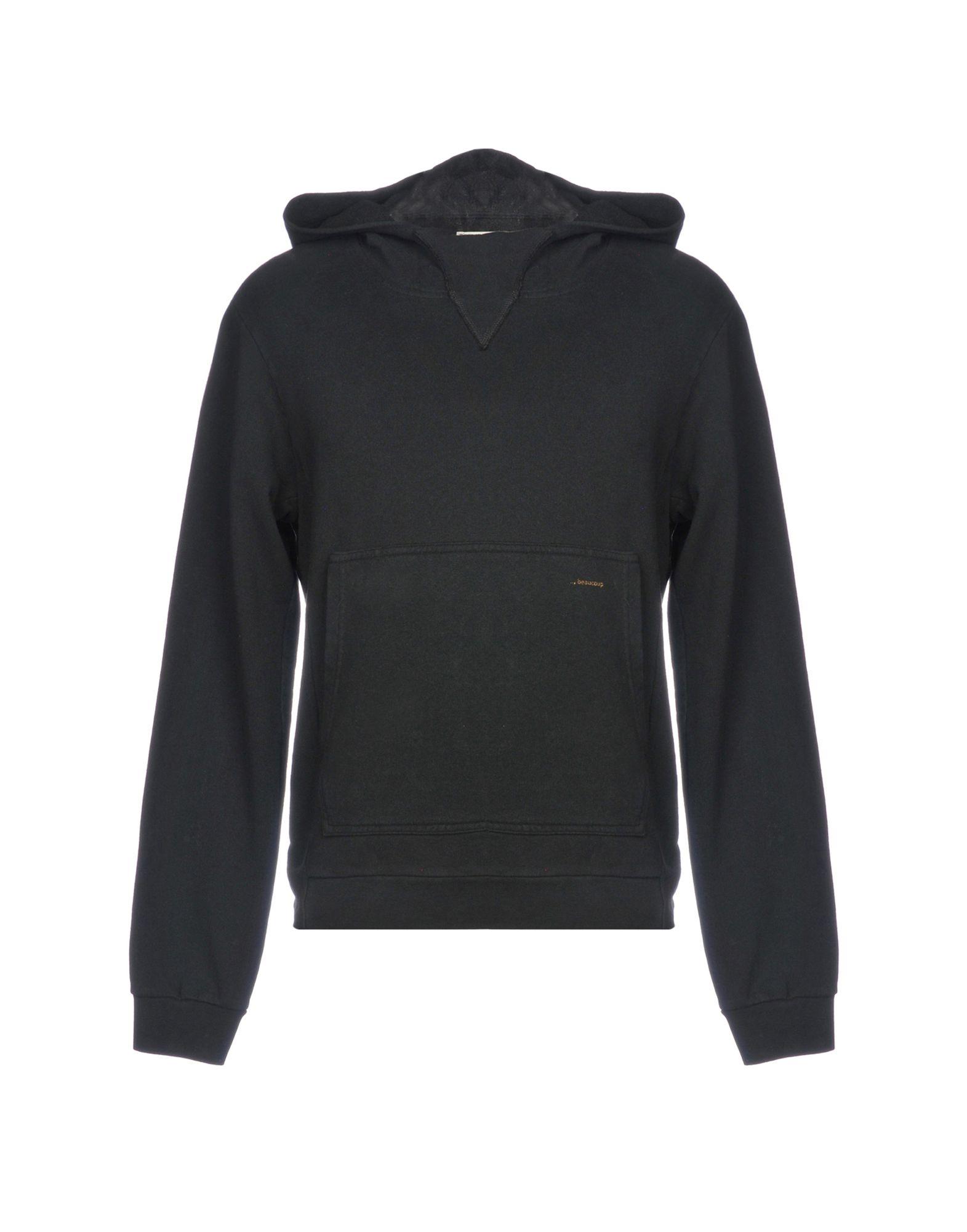 《送料無料》,BEAUCOUP メンズ スウェットシャツ ブラック S コットン 100%