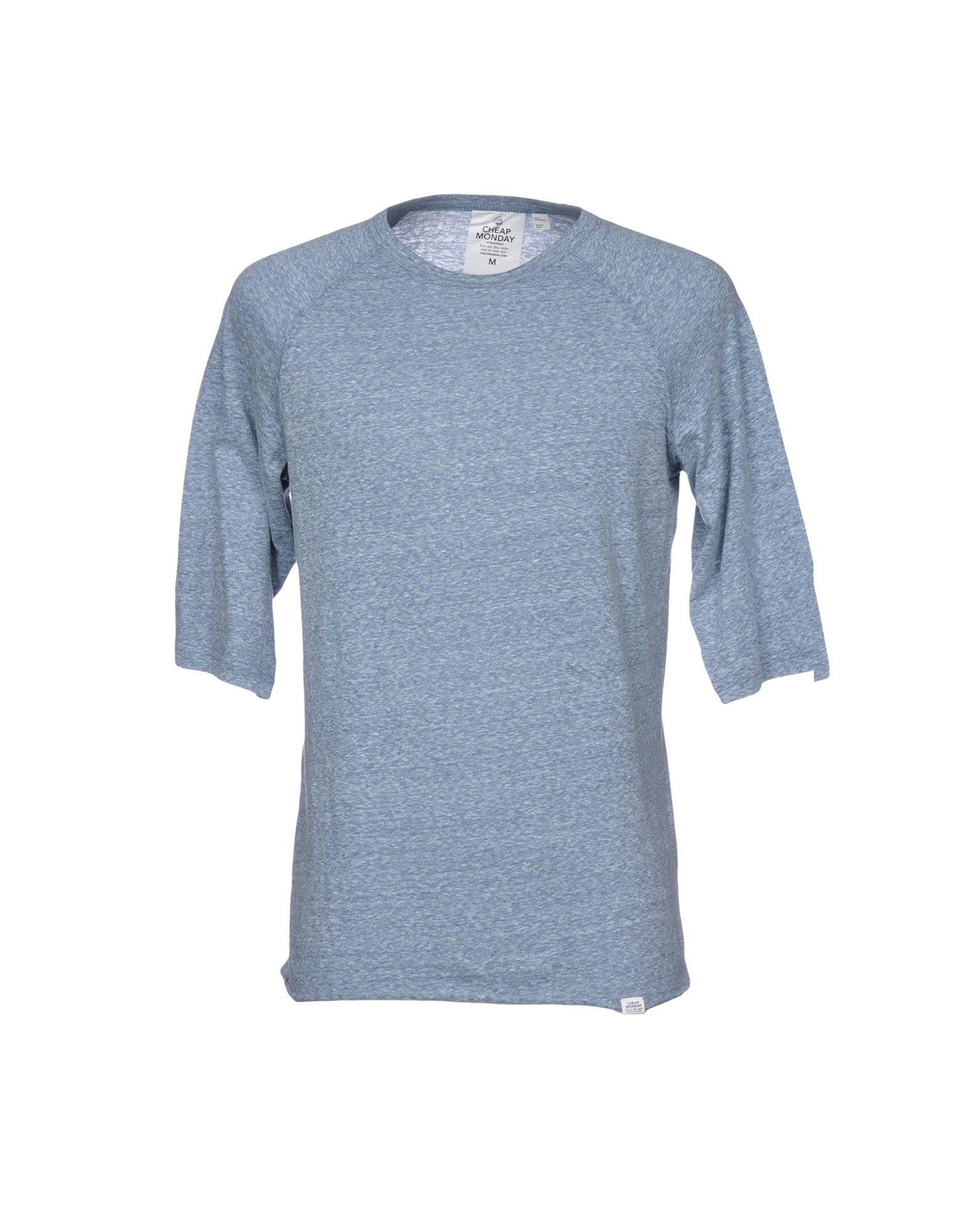 Cheap Monday T Shirts In Azure Modesens