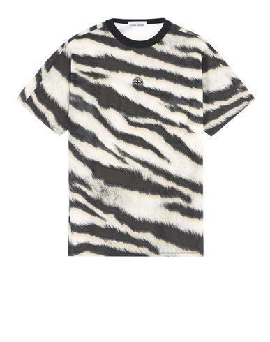 STONE ISLAND Short sleeve t-shirt 242E2 WHITE TIGER CAMO