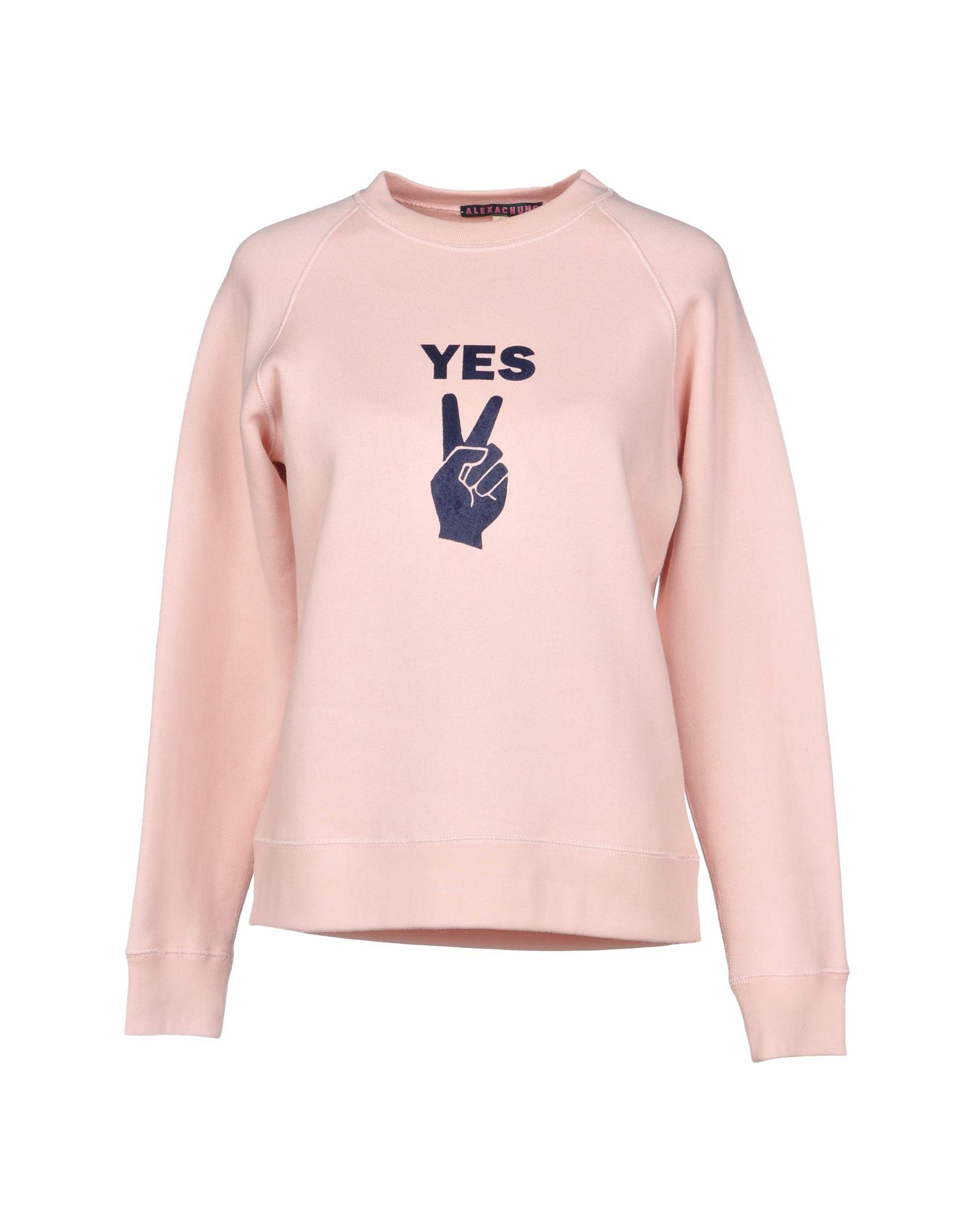 《送料無料》ALEXACHUNG レディース スウェットシャツ ライトピンク XS コットン 100%