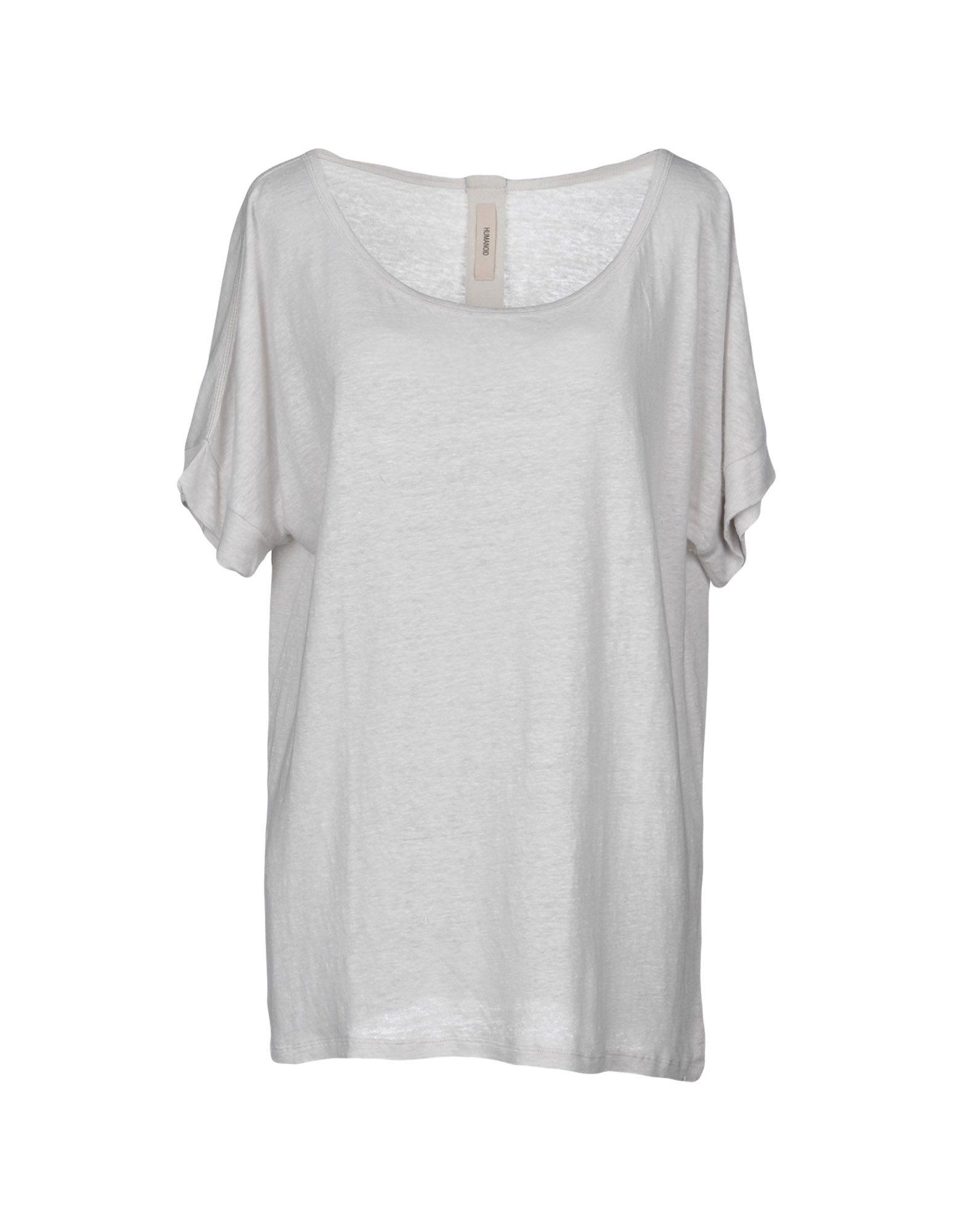 《送料無料》HUMANOID レディース T シャツ ライトグレー XS 麻 100%