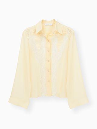 Lace-trim blouse