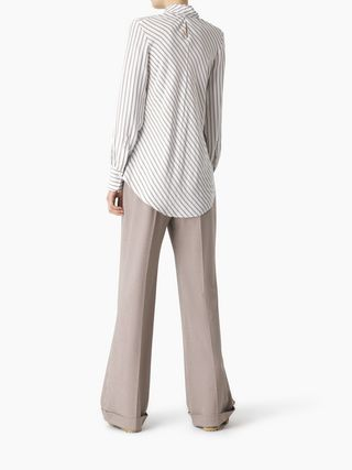 Ascot-tie blouse