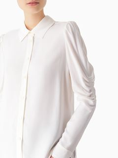 Puff-shoulder blouse