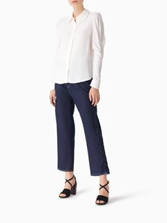 Puff-shoulder blouse