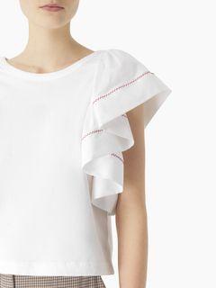 Flouncy-sleeve top