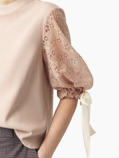 Lace-sleeve top