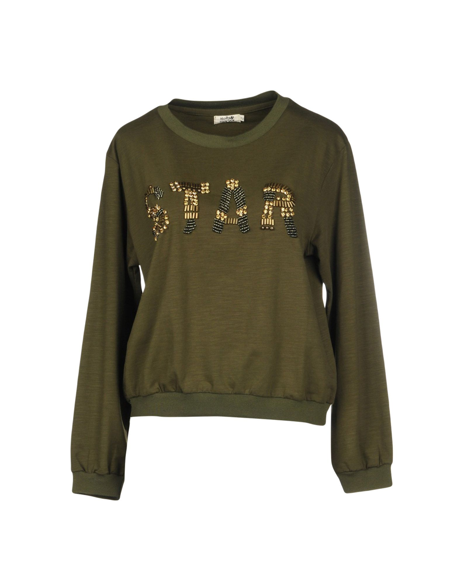 MOLLY BRACKEN Sweatshirt in Military Green