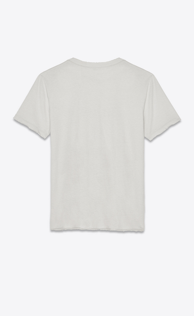 SAINT LAURENT T-Shirt & Jersey Damen Saint Laurent University Boyfriend-T-Shirt aus off-White-farbenem Jerseystoff b_V4