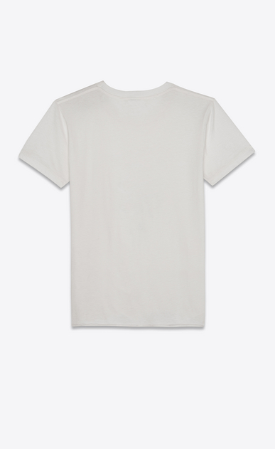 SAINT LAURENT T-Shirt and Jersey Woman Classic white jersey T-shirt with sketch b_V4