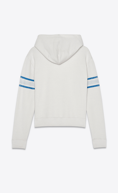 SAINT LAURENT Sportswear Tops Woman Hooded Babylone sweatshirt in ecru b_V4