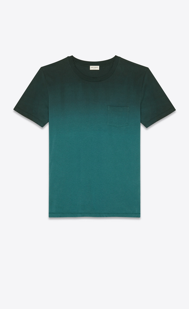 SAINT LAURENT T-Shirt and Jersey Man T-shirt in degraded green a_V4
