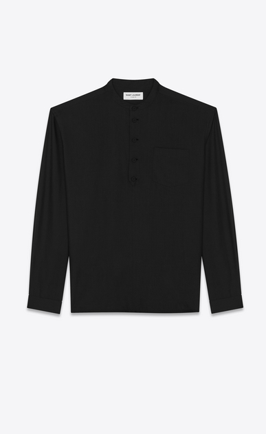 SAINT LAURENT Tunic Man Tunic in black muslin a_V4