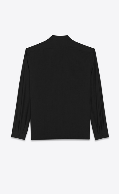 SAINT LAURENT Tunic Man Tunic in black muslin b_V4