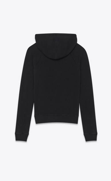 SAINT LAURENT Sportswear Tops Man Hooded sweatshirt with Everything Now in faded black b_V4