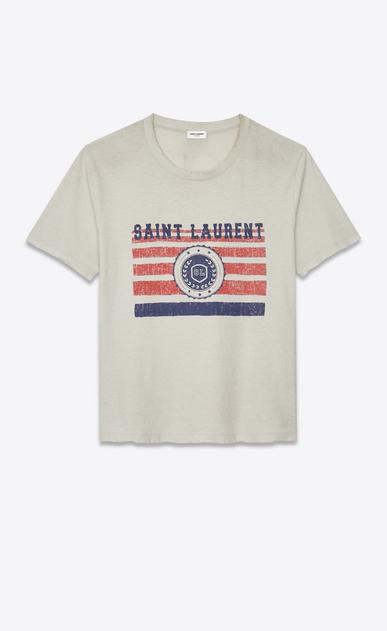 """SAINT LAURENT T-Shirt and Jersey Man """"saint laurent université"""" destroyed t-shirt a_V4"""