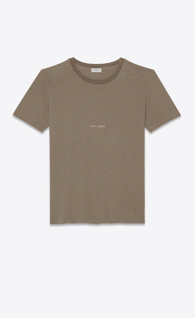 SAINT LAURENT T-Shirt and Jersey Man T-shirt with Saint Laurent in faded gray a_V4