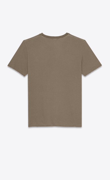 SAINT LAURENT T-Shirt and Jersey Man T-shirt with Saint Laurent in faded gray b_V4