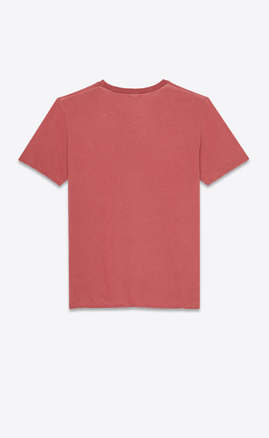 SAINT LAURENT T-Shirt and Jersey Man T-shirt with Saint Laurent square in faded red b_V4