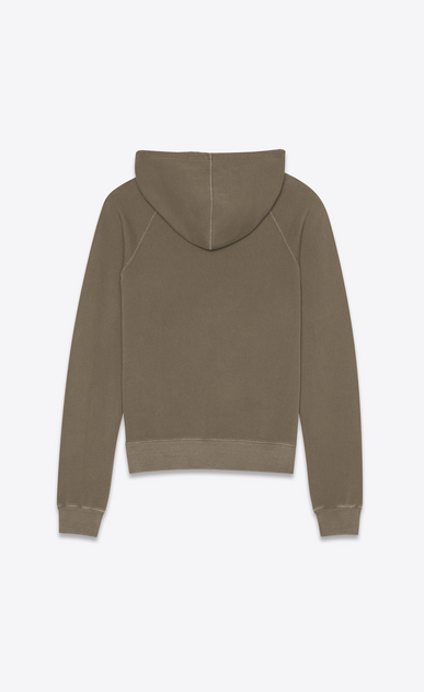 SAINT LAURENT Sportswear Tops Man Hooded sweatshirt with Saint Laurent in faded gray b_V4